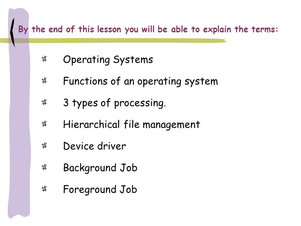 What is an Operating System.Operating Systems: 1.