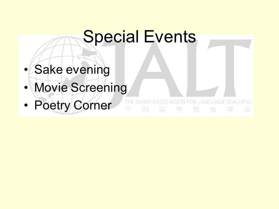 Special Events Sake evening Movie Screening Poetry Corner