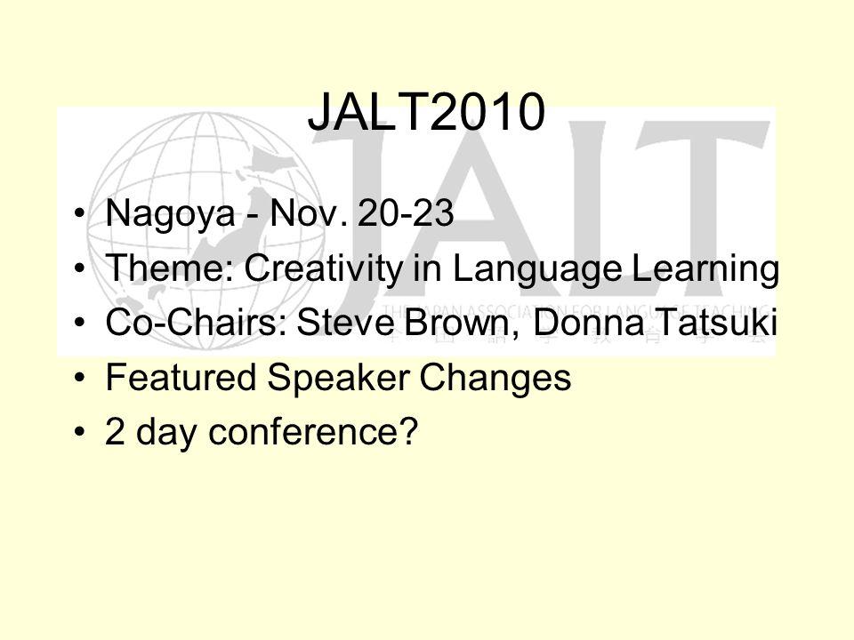 JALT2010 Nagoya - Nov.