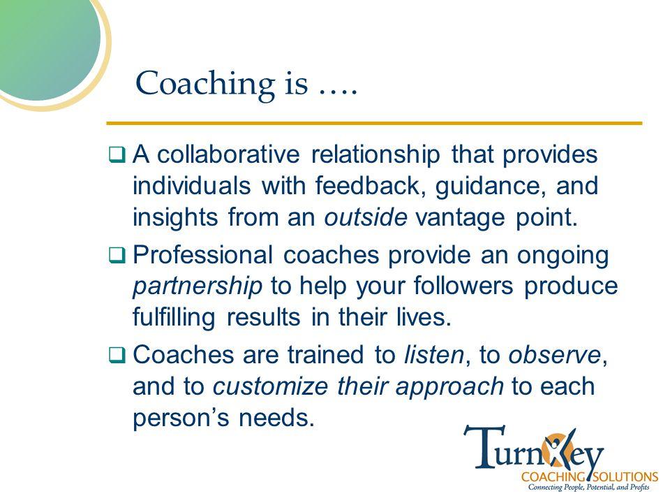 Coaching is ….