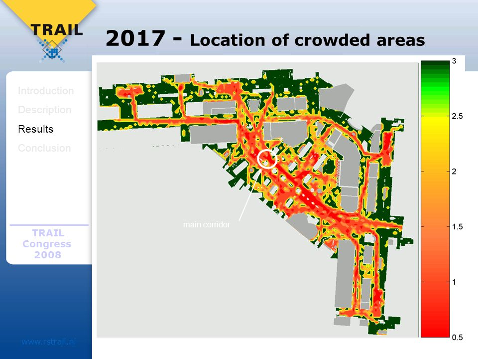 TRAIL Congress Location of crowded areas Introduction Description Results Conclusion main corridor