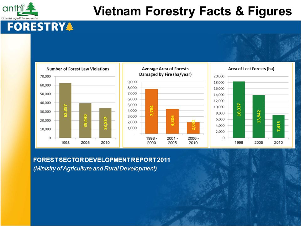 Vietnam Forestry Facts & Figures FOREST SECTOR DEVELOPMENT REPORT 2011 (Ministry of Agriculture and Rural Development)