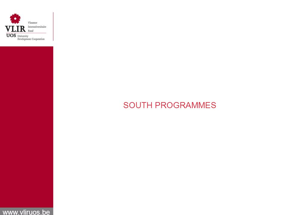 www.vliruos.be SOUTH PROGRAMMES