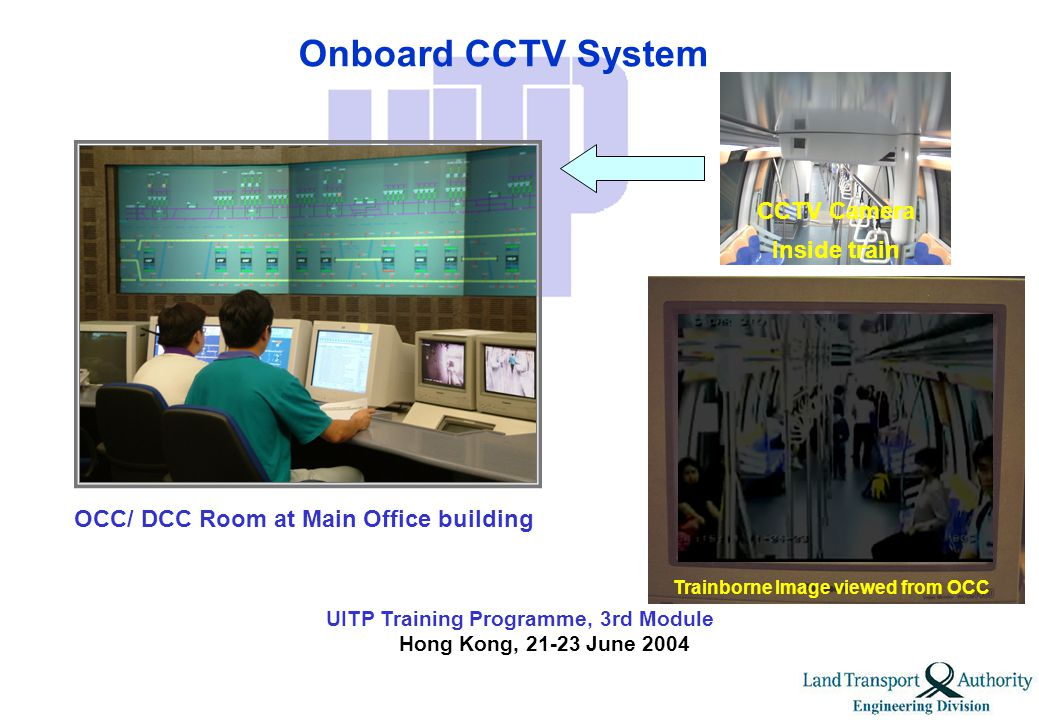 UITP Training Programme, 3rd Module Hong Kong, 21-23 June 2004 Train Integrated Management System (TIMS)