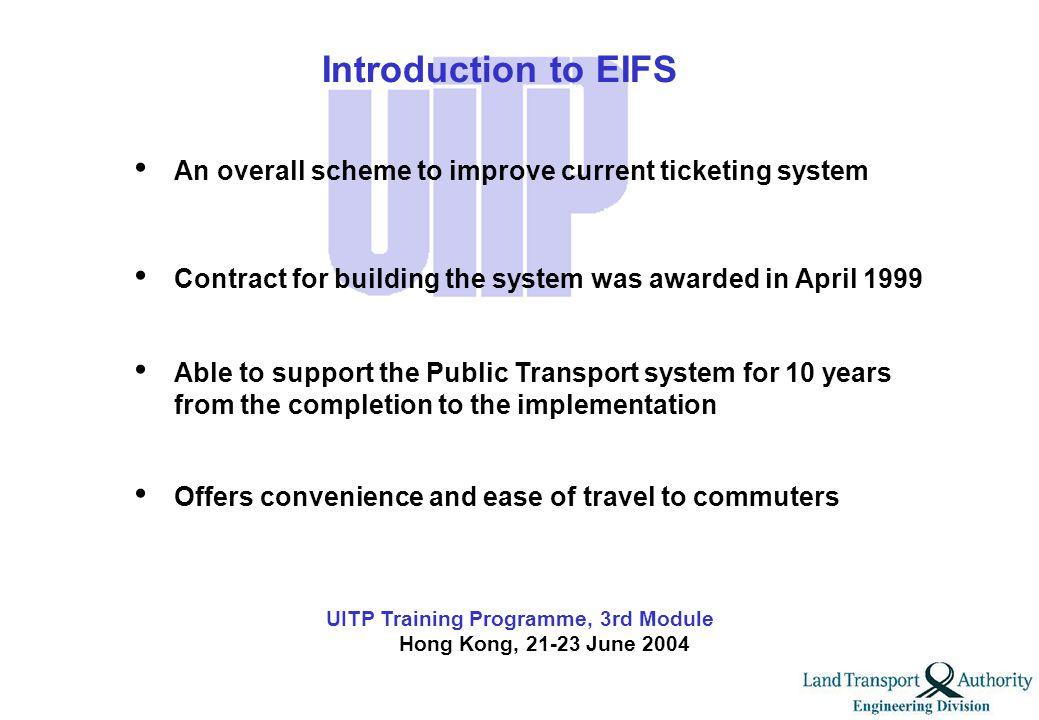 UITP Training Programme, 3rd Module Hong Kong, 21-23 June 2004 Part II Enhanced Integrated Fare Systems (EIFS)