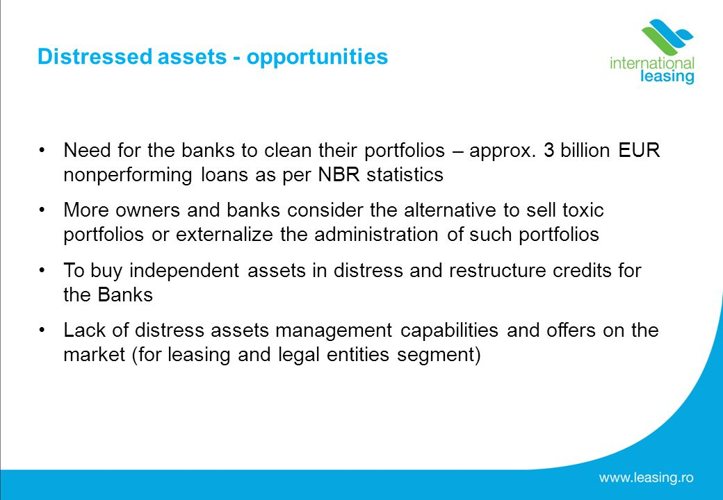 Need for the banks to clean their portfolios – approx.