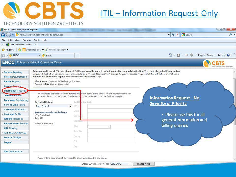 6 ITIL – Datacenter & MAC - Menu Datacenter & Telephony MAC Datacenter and Telephony MAC moved under Change Request