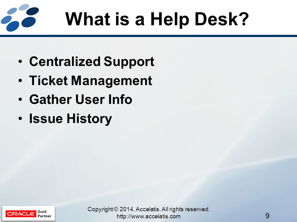 What is a Help Desk.
