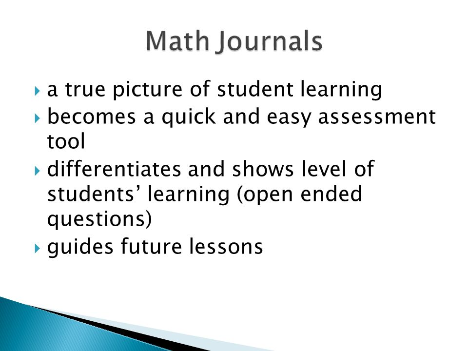 a true picture of student learning becomes a quick and easy assessment tool differentiates and shows level of students learning (open ended questions) guides future lessons