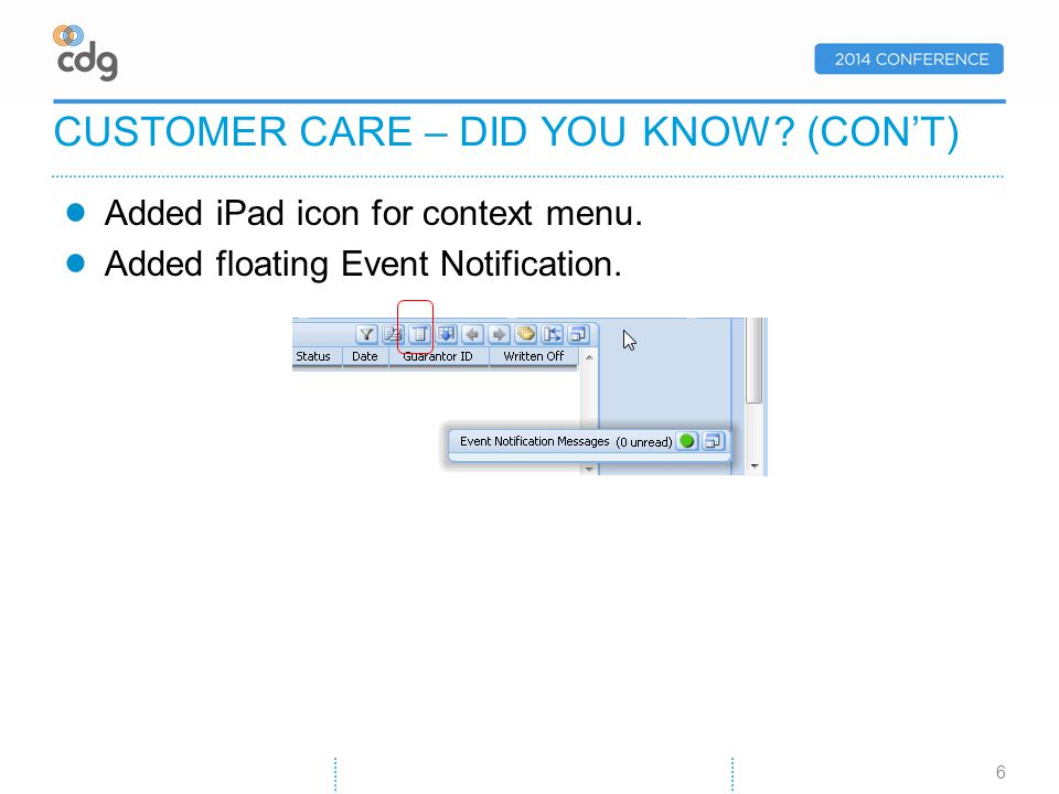 Create your customer list based on one of the categories/views. CUSTOMER COMMUNICATIONS (CONT) 17