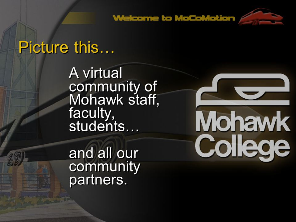 Picture this… A virtual community of Mohawk staff, faculty, students… and all our community partners.