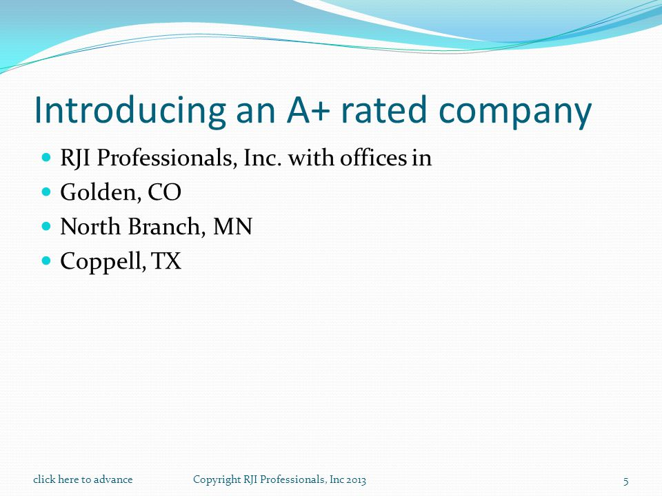 Introducing an A+ rated company RJI Professionals, Inc.