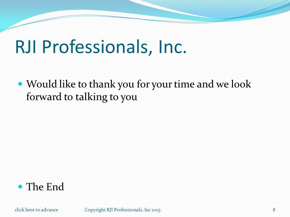 RJI Professionals, Inc.