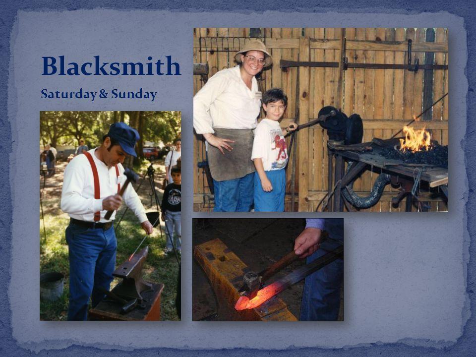 Blacksmith Saturday & Sunday