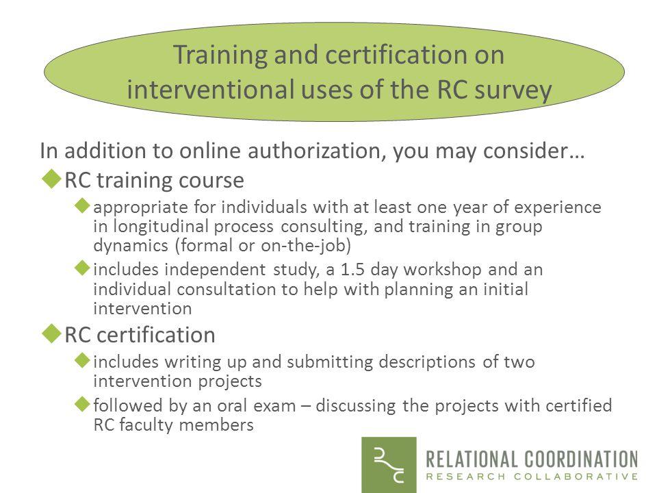 The RC Survey Dr.