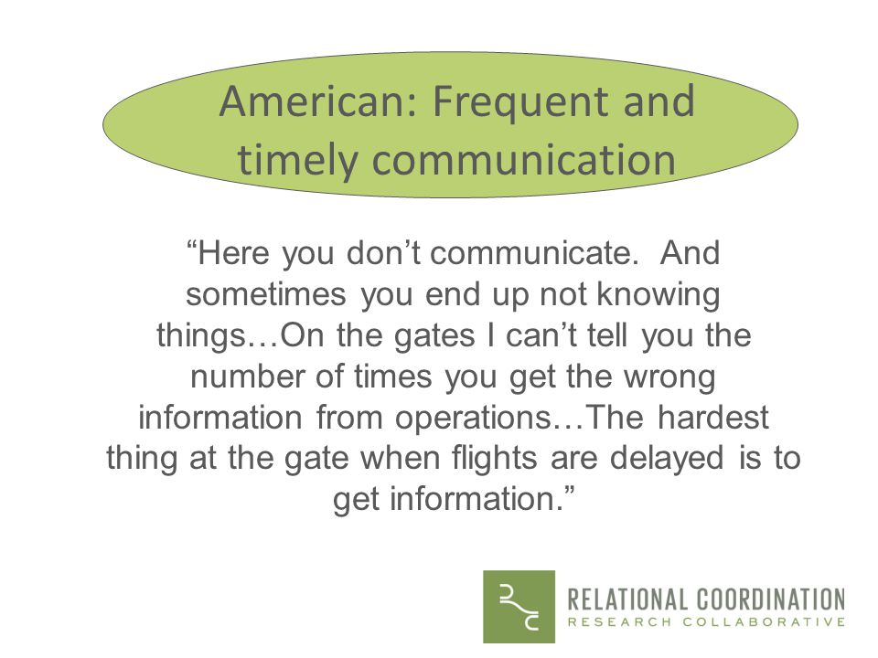 Physicians recognize the problem The communication line just wasnt there.