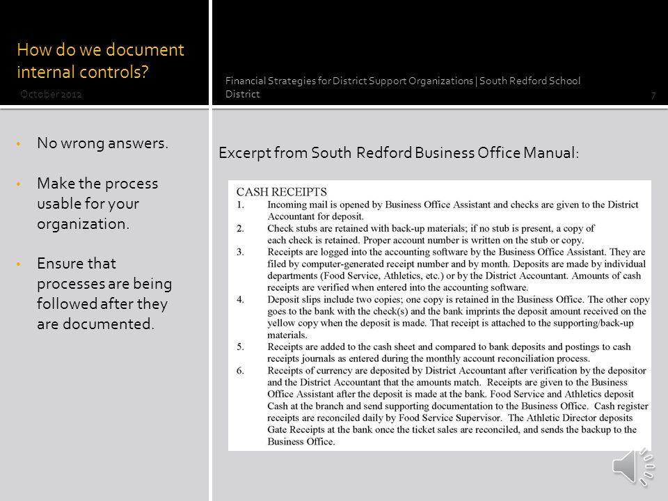 ABC Elementary PTO Cash Accounting Worksheet October 23, 2012 – Raffles 1.