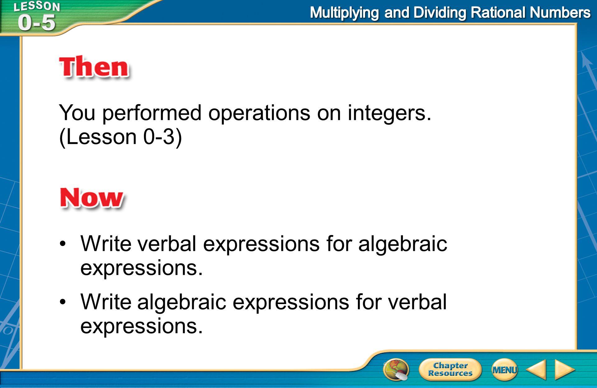 Example 2 Write Algebraic Expressions C.