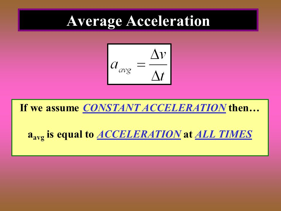 Constant Non-Zero Acceleration Final Velocity Equation Displacement Equation Shortcut Equation DOES NOT INCLUDE TIME!
