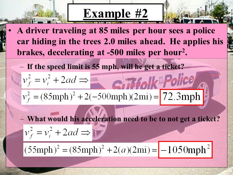 SUMMARY List the 5 (+1) equations you will primarily use when solving Kinematics problems Which ones assume NO acceleration?