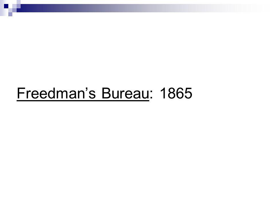 Freedmans Bureau: 1865