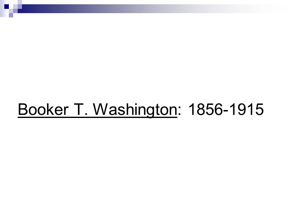 Booker T. Washington: