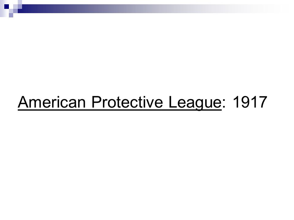 American Protective League: 1917
