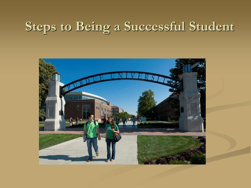 Steps to Being a Successful Student