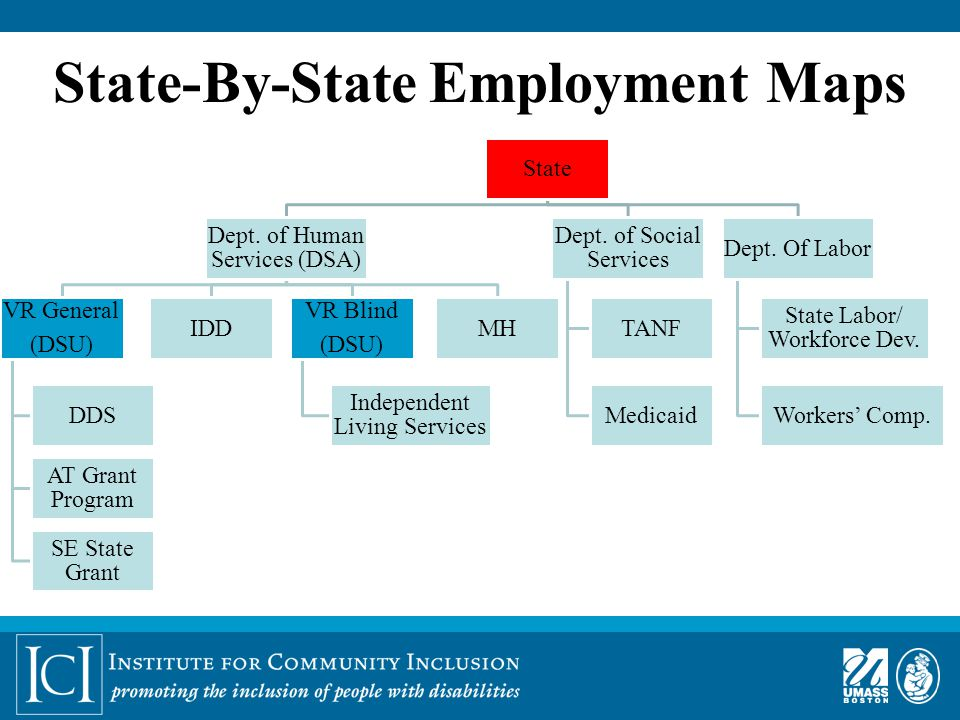 State-By-State Employment Maps State Dept.