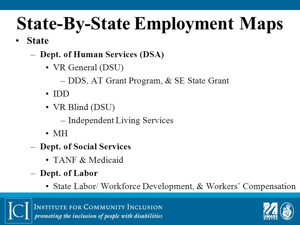 State-By-State Employment Maps State –Dept.