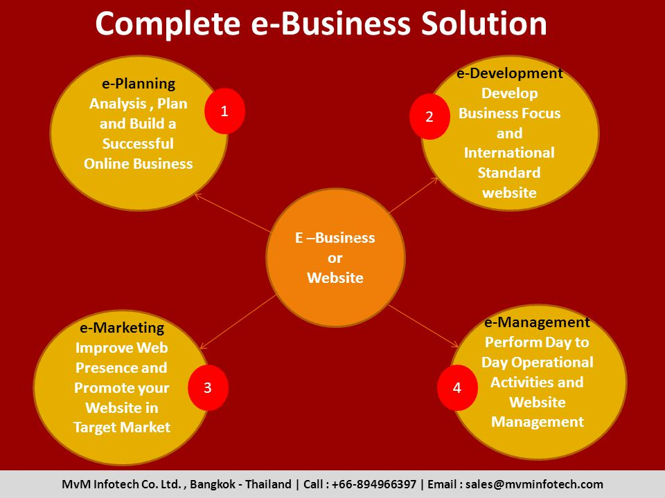 Complete e-Business Solution E –Business or Website e-Development Develop Business Focus and International Standard website MvM Infotech Co.