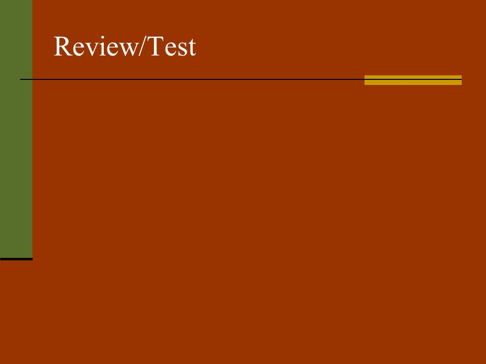 Review/Test