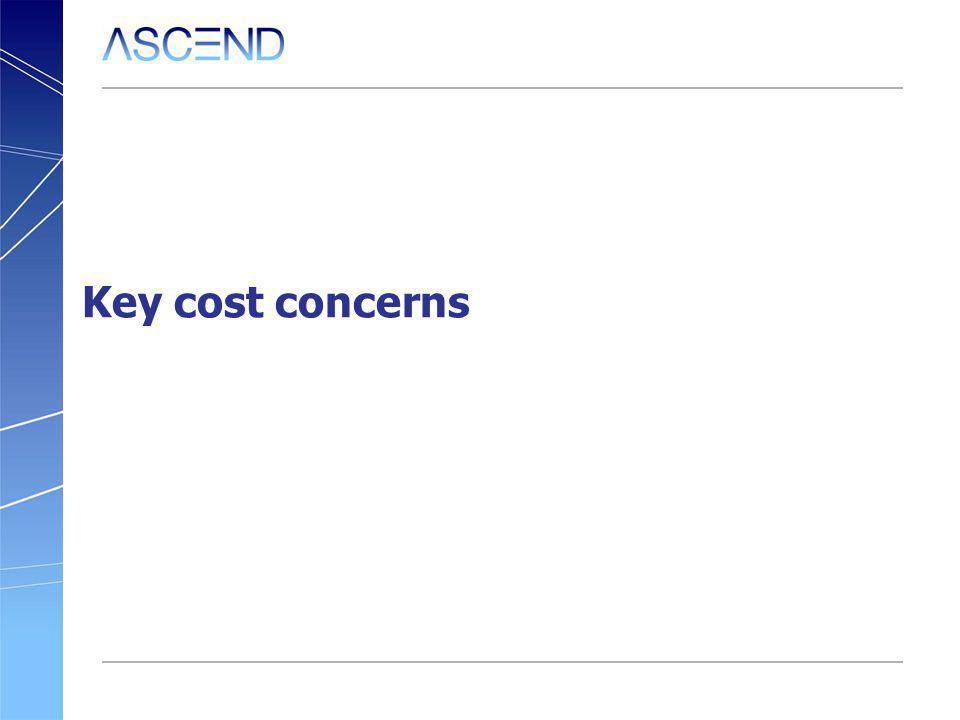 Key cost concerns