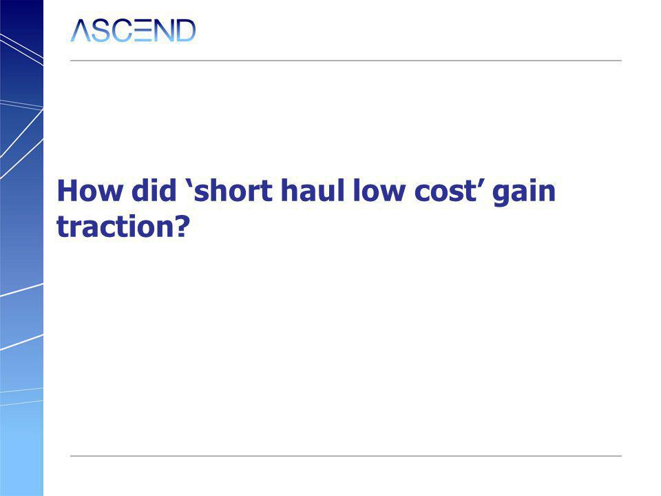 How did short haul low cost gain traction