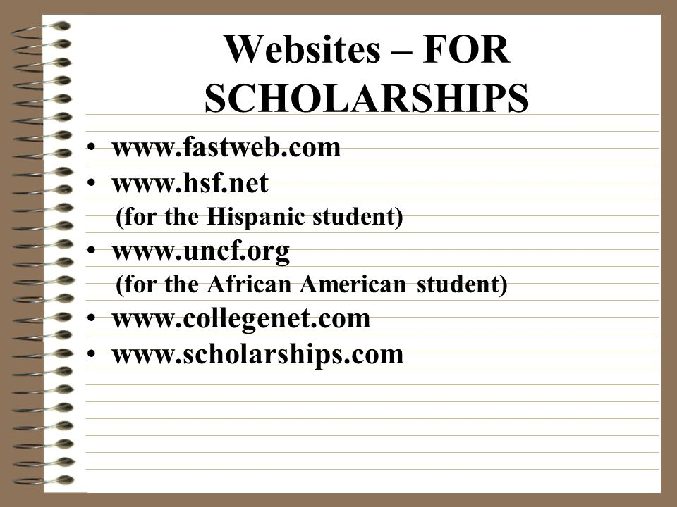 Scholarships Do Not Fall From The Sky! The scholarship fairy is dead… you must search for, apply for and CONTINUE TO APPLY FOR as many scholarships as