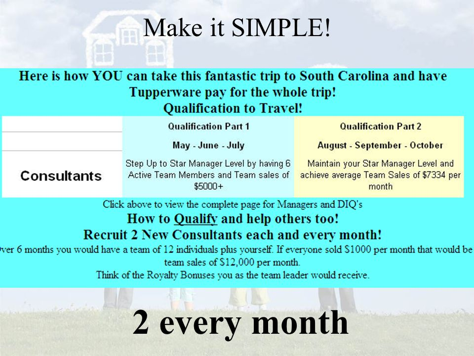 Make it SIMPLE! 2 every month