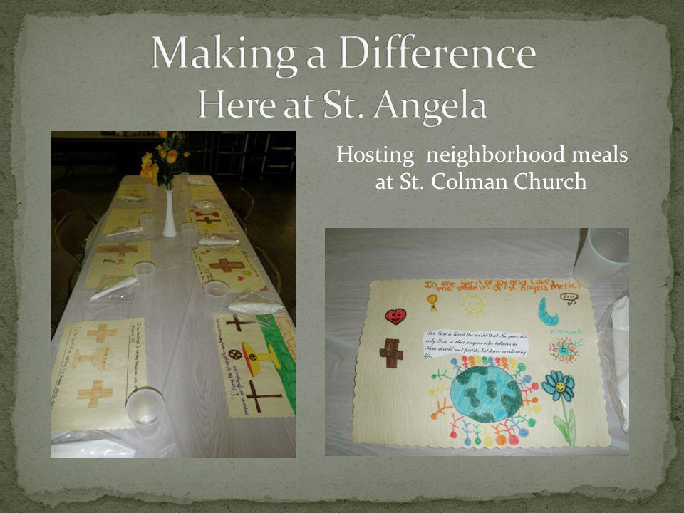 Hosting neighborhood meals at St. Colman Church