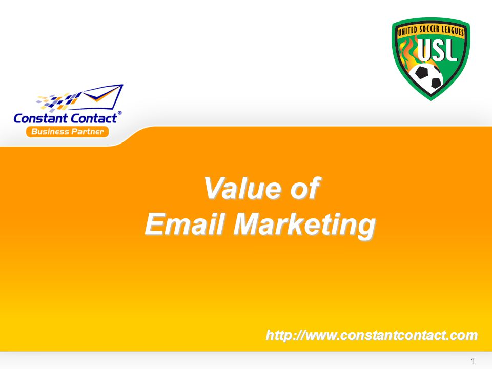 1 Value of  Marketing