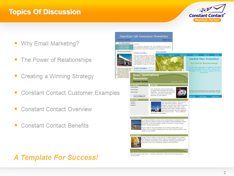 2 Topics Of Discussion Why Email Marketing.