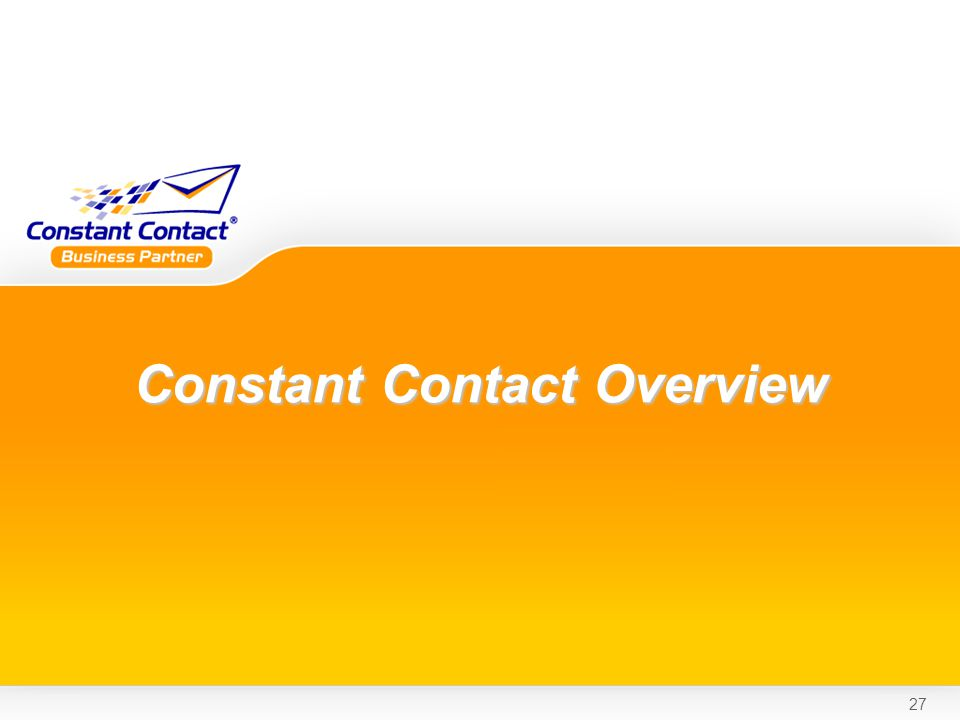 27 Constant Contact Overview