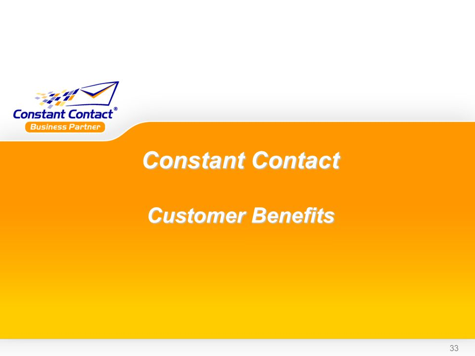 33 Constant Contact Customer Benefits