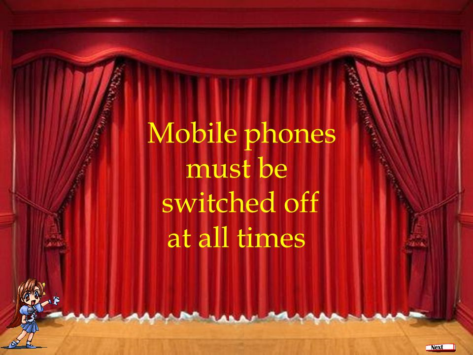 Ваше содержание Mobile phones must be switched off at all times