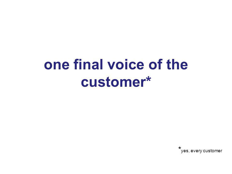 35 one final voice of the customer* 35 * yes, every customer