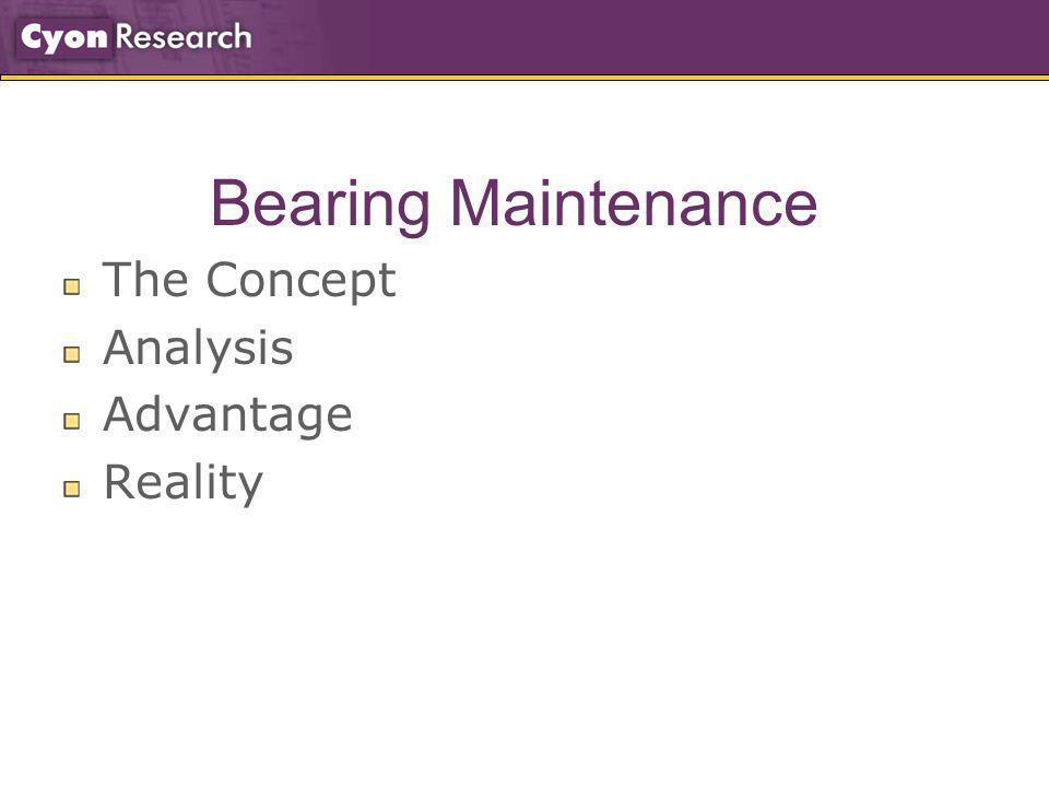 Bearing Maintenance The Concept Analysis Advantage Reality
