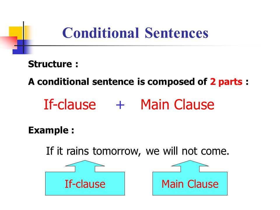 Conditional Sentences Bachillerato