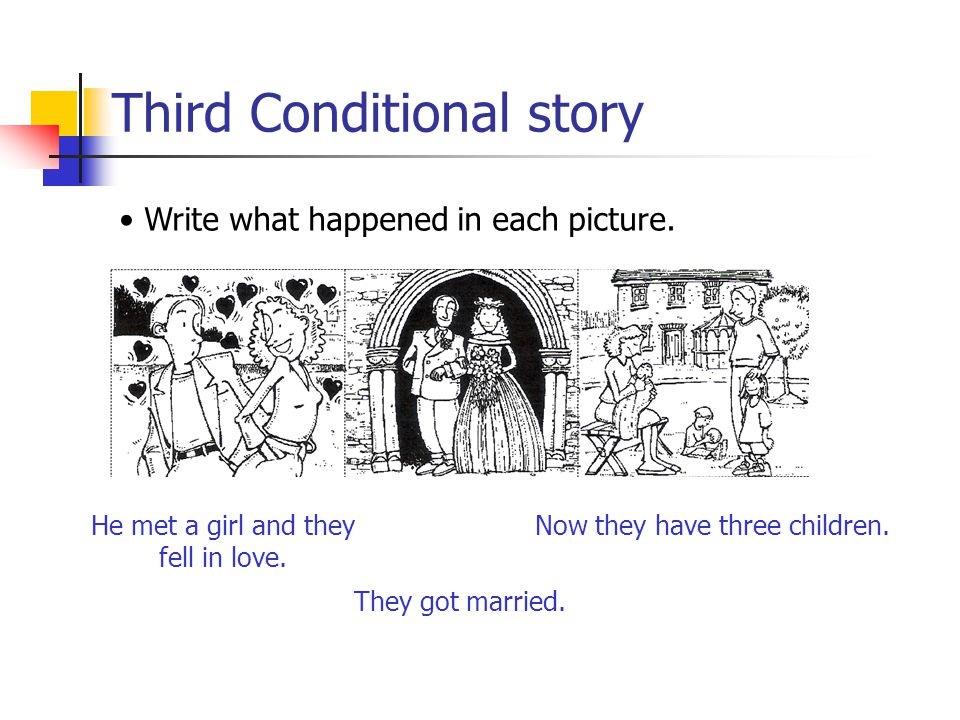 Third Conditional story Write what happened in each picture. His boss was angry and he was dismissed He went for a walk.