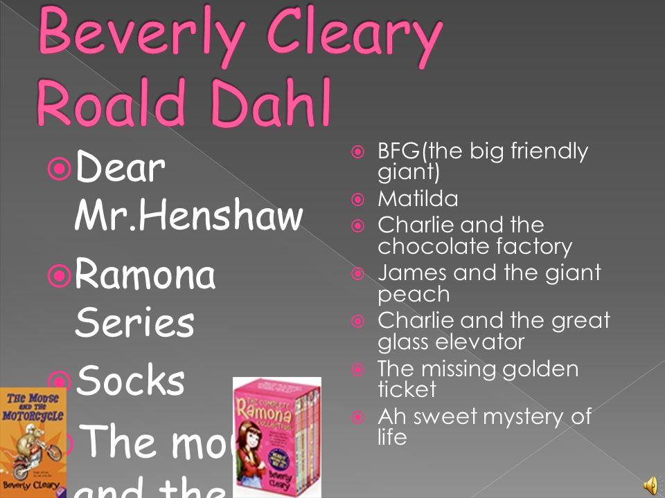 Roald Dahl writes fantasy books.