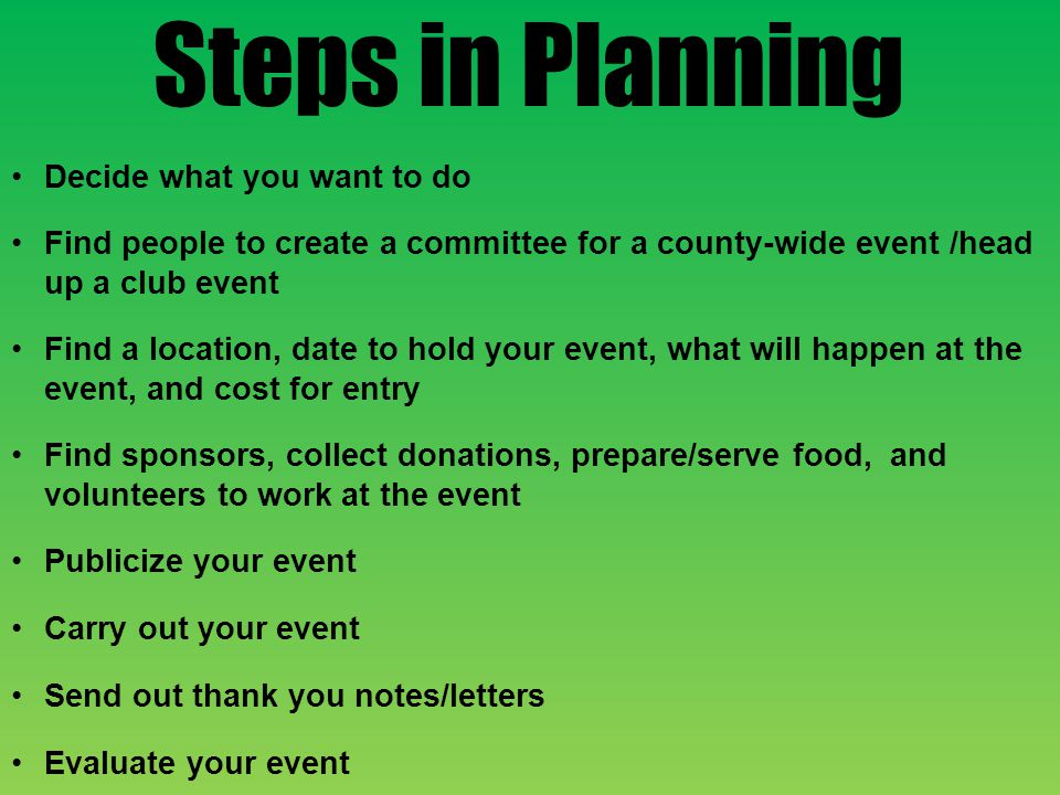 Finding Volunteers to Work Your Event Endowment Dinner Endowment Committee, 4-H Club, & Jr.