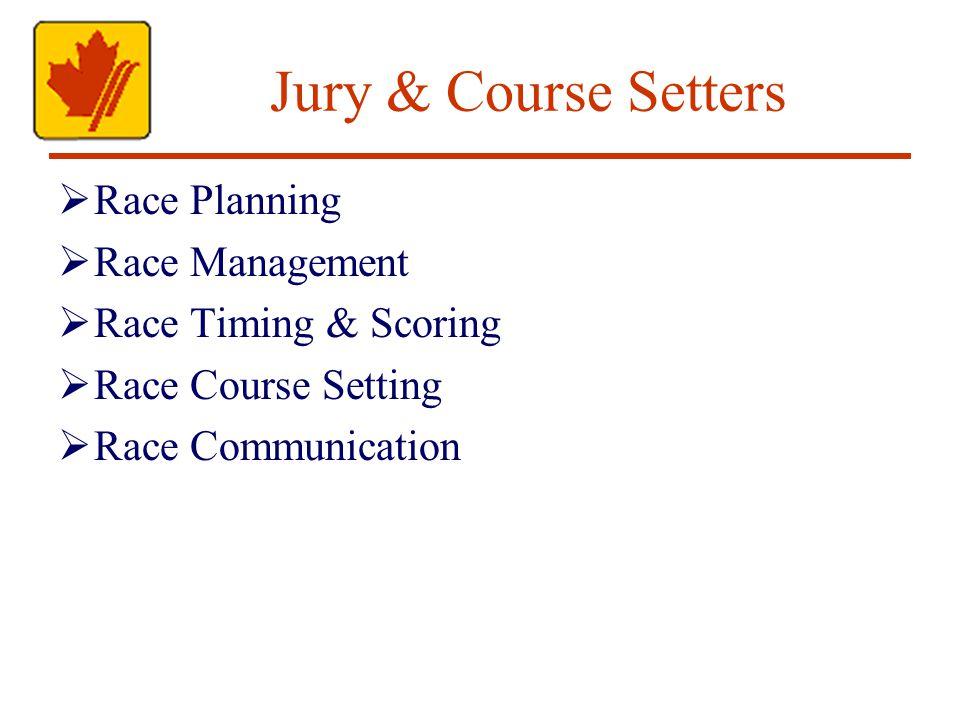 Jury & Course Setters Race Planning Race Management Race Timing & Scoring Race Course Setting Race Communication