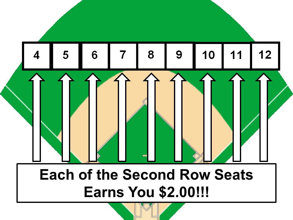 Each of the First 3 Seats Earns You $4.00!!!